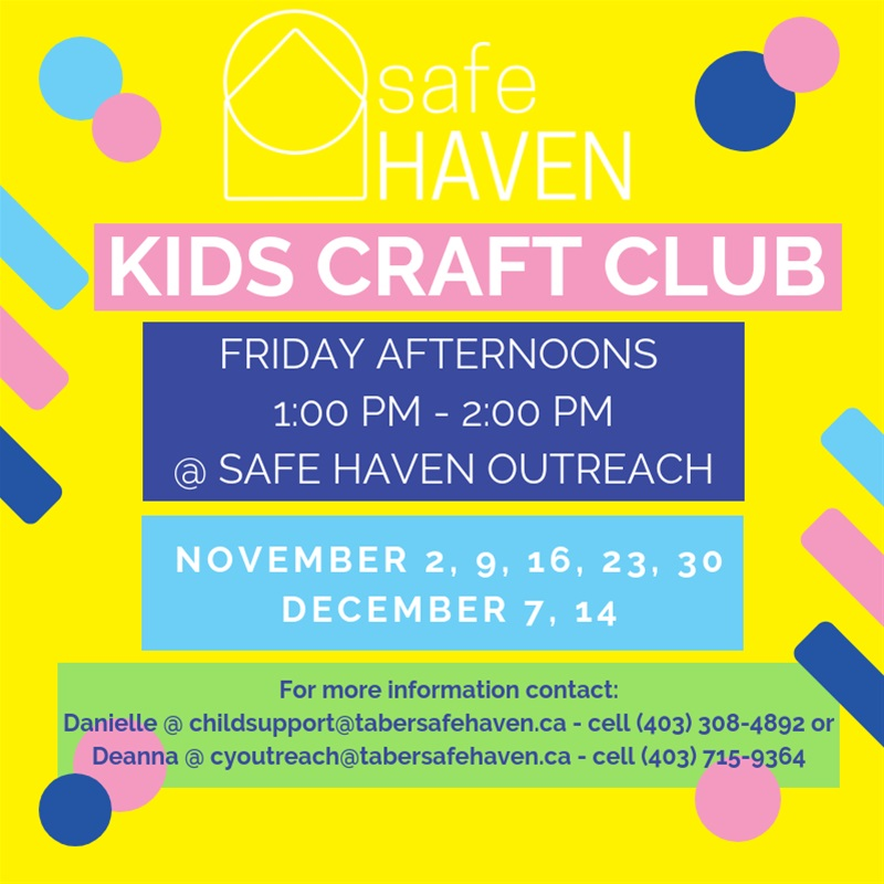 Safe Haven Kids Craft Club At Safe Haven Women S Shelter Society In